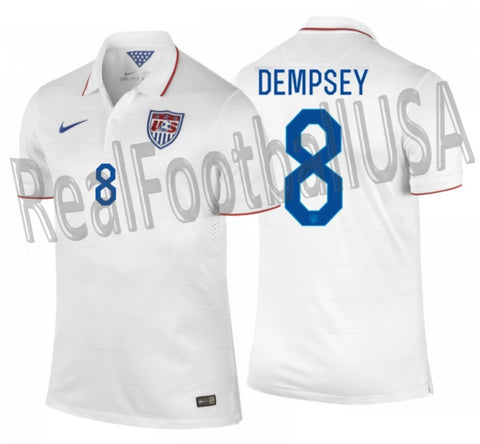 NIKE CLINT DEMPSEY USMNT USA AUTHENTIC MATCH HOME JERSEY FIFA WORLD CUP 2014 1