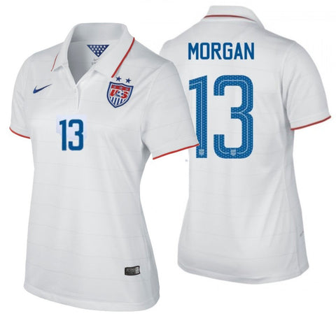 best loved ae238 54796 NIKE ALEX MORGAN USA WOMEN'S HOME JERSEY USWNT FIFA WORLD CUP 2014