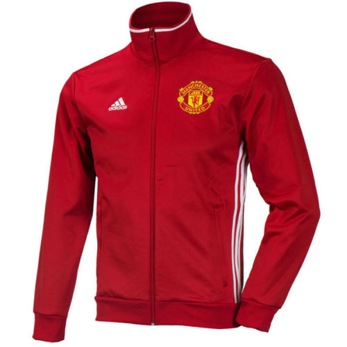 adidas Manchester United 3 Striped Full Zip Hoodie
