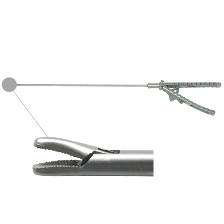 Laparoscopic needle holder curved tip (V handle)