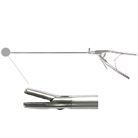 Laparoscopic needle holder straight tip (new style handle)