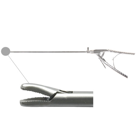Laparoscopic needle holder curved tip (new style handle)