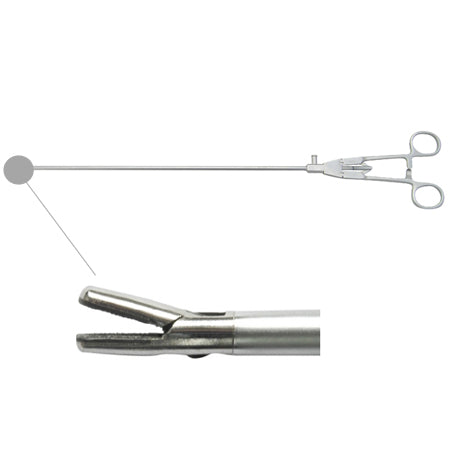 Laparoscopic needle holder straight tip (simple style handle)