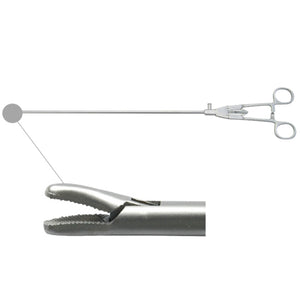 Laparoscopic needle holder curved tip (simple style handle)