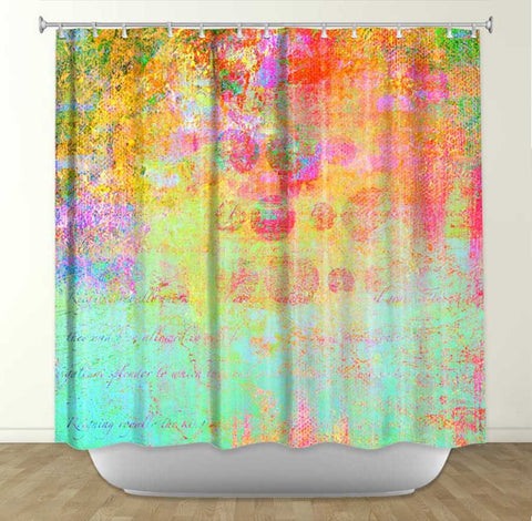 DiaNoche Designs Hybrid Ocean by China Carnella Fabric Shower Curtain