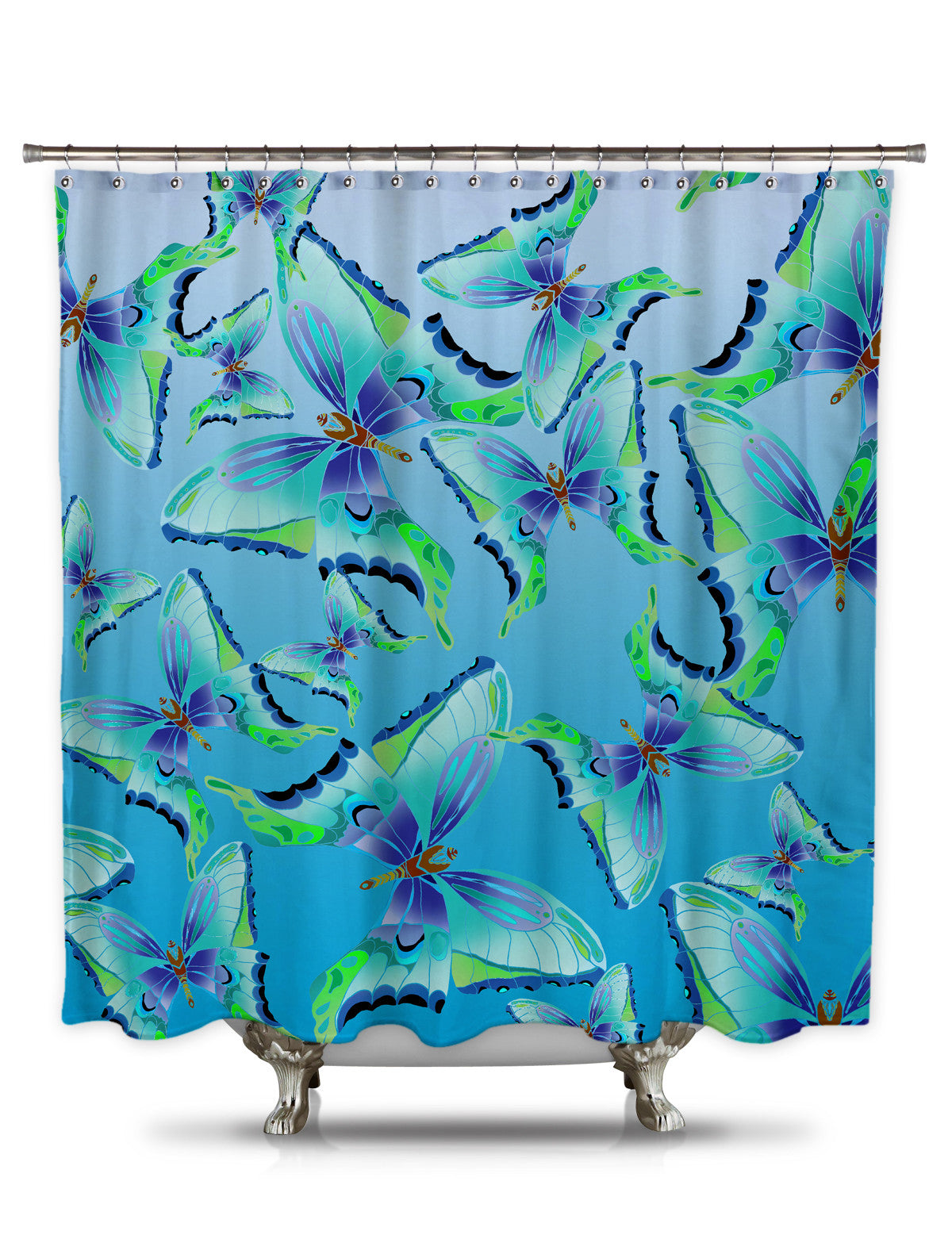 Pattern of Butterflies by Catherine Holcombe Fabric Shower Curtain