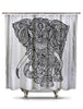 Black and White Elephant Shower Curtain-EXTRA LONG-Adult Coloring Book Series