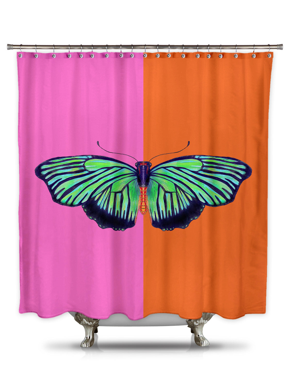 Hal Color Block by Catherine Holcombe Fabric Shower Curtain