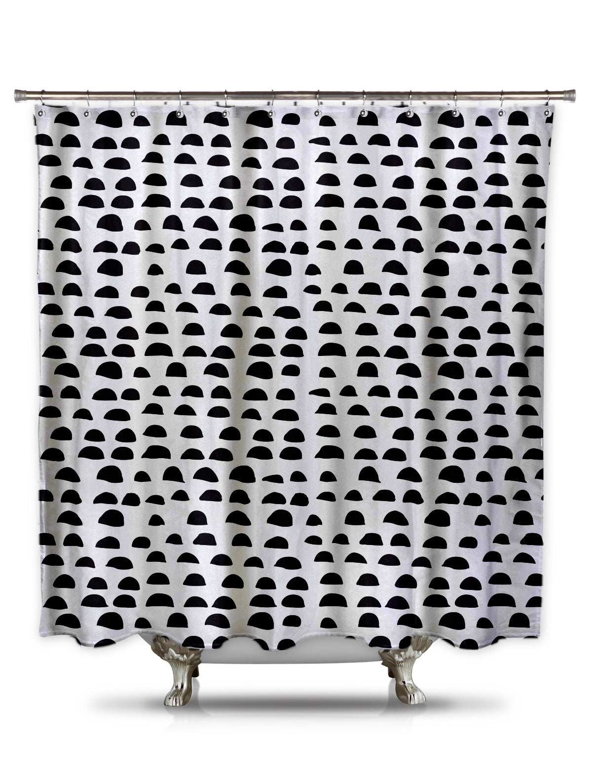 Half Circles Fabric Shower Curtain by Fred DePaoli