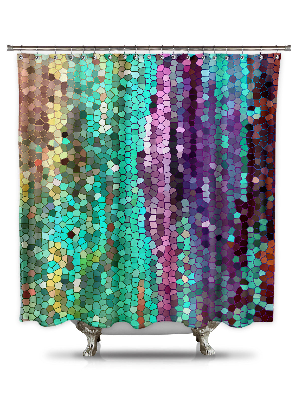Morning Mosaic By Catherine Holcombe Fabric Shower Curtain Showercurtainhq