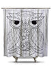 Black and White Owl2 Shower Curtain-Adult Coloring Book Series