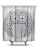 Black and White Owl Shower Curtain-Adult Coloring Book Series