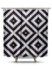 Black and White Pixel Shower Curtain