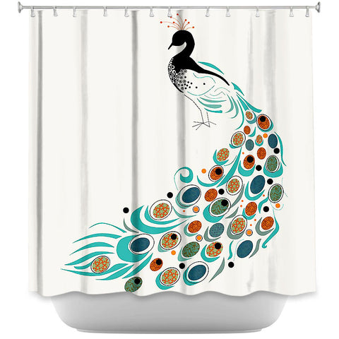 Peacock II by Marci Cheary Fabric Shower Curtain