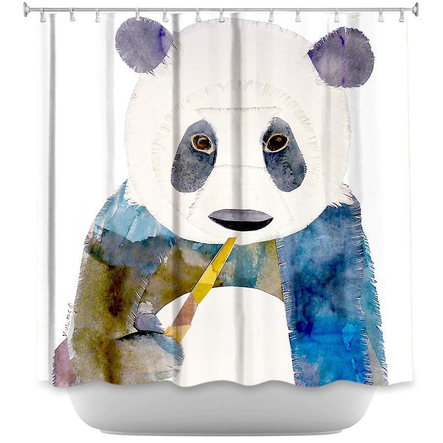 Panda By Marley Ungaro Fabric Shower Curtain Showercurtainhq