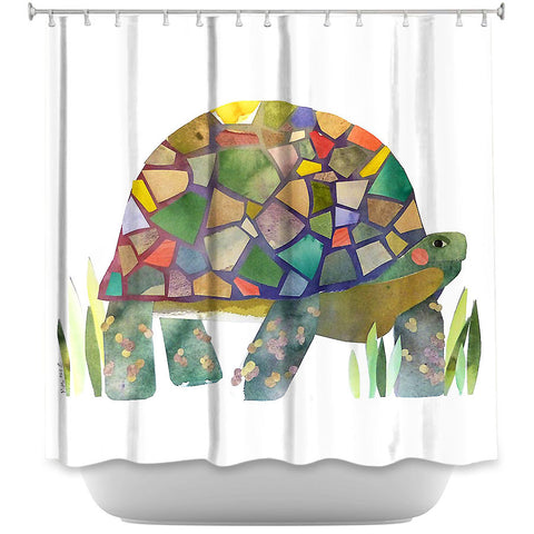 DiaNoche Designs Turtle by Marley Ungaro Fabric Shower Curtain