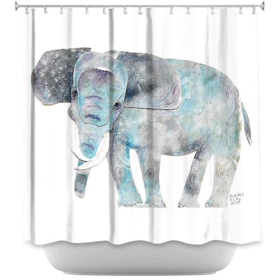 Elephant by Marley Ungaro Fabric Shower Curtain