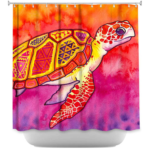 Seaturtle Spirit by Rachel Brown, Fabric Shower Curtain