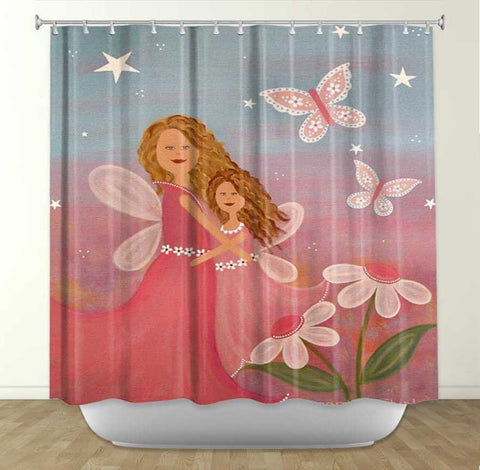 DiaNoche Designs Always Forever by Samantha Knops Fabric Shower Curtain