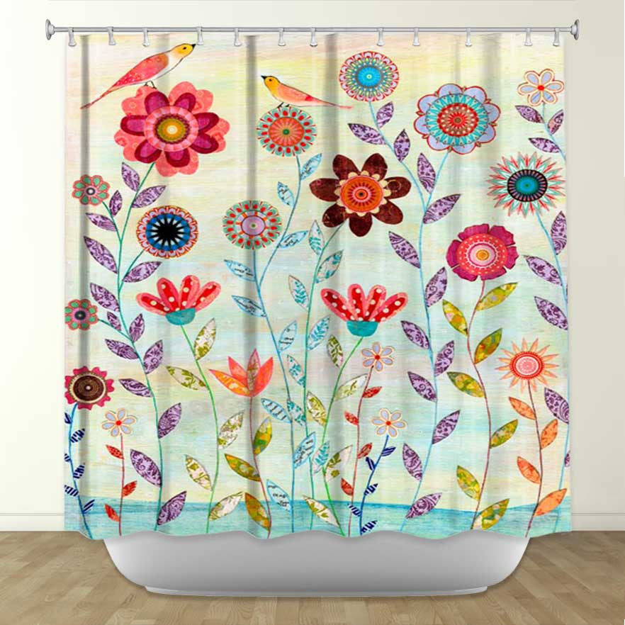 DiaNoche Designs Morning Hour by Sascalia Fabric Shower Curtain