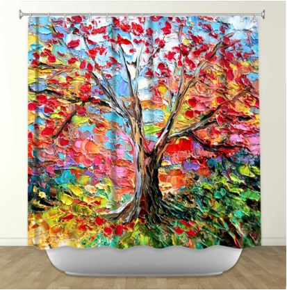 DiaNoche Designs Story of the Tree 59 by Aja-Ann Fabric Shower Curtain