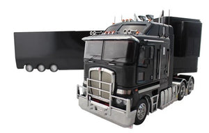 1:32 Kenworth K200 + A & B Trailers (Black)