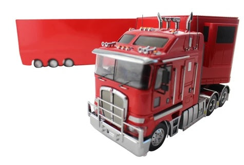 1:32 Kenworth K200 + A & B Trailers (Red)