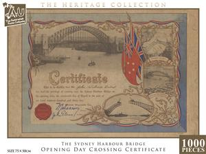 1000pc Sydney Harbour Bridge - Opening Day Crossing Certificate