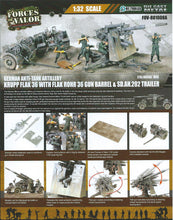 Load image into Gallery viewer, 1:32 German Krupp Flak 36 with Flak Rohr 36 gun barrel & sd. 202 tow vehicle