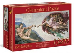 "Clementoni 13200 Piece Puzzle - ""The Creation of Adam"" by Michelangelo"