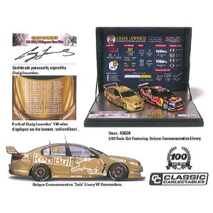 1:43 Craig Lowndes Twin Set 100 ATCC/V8 Supercar Race Wins - Holden VF Commodore