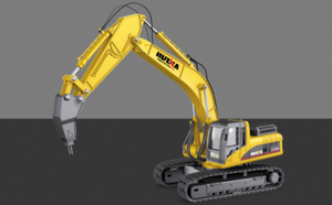 Scale 1:40 Static Model Drill Excavator