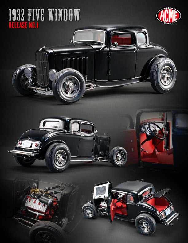 1:18 Scale 1932 Five Window Coupe