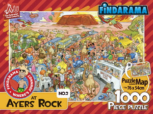 Findarama - Where is Johnno at Ayers Rock 1000pc