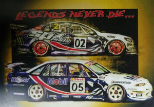 "Garth Tander - Peter Brock ""LEGENDS NEVER DIE.."" A3 Poster"