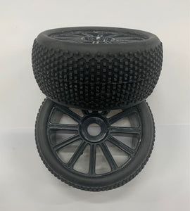 1:8 Tyres Complete Pair - Black
