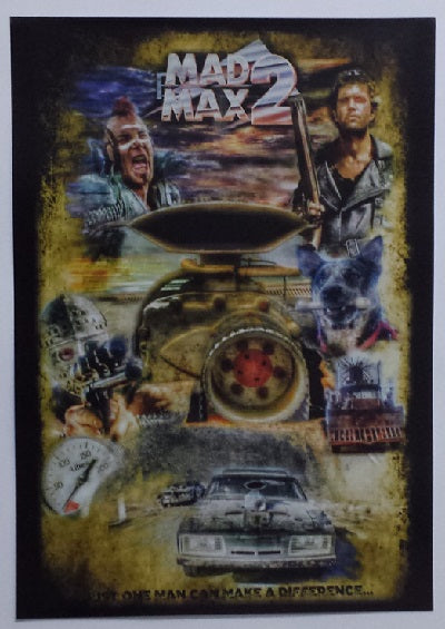 MAD MAX V2 Just One Man Can Make A Difference A3 Poster