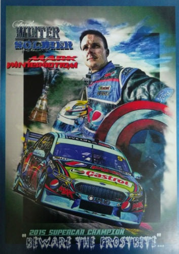Mark Winterbottom 2015 Supercar Champion A3 Poster