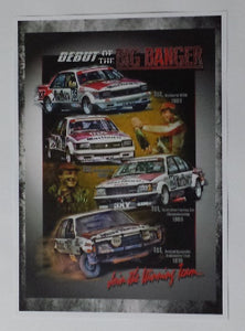 "Peter Brock - ""Debut of the Big Banger"" A3 Poster"