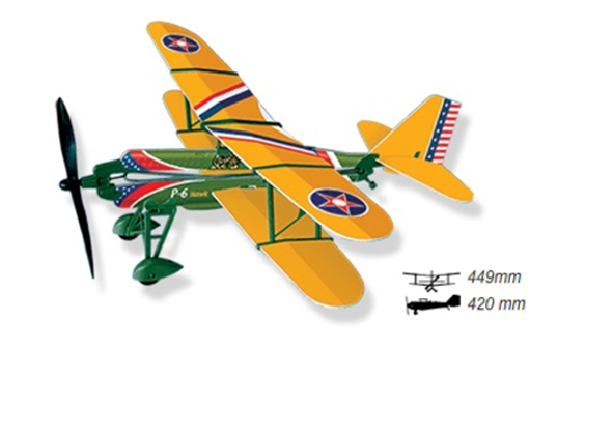 Rubber Band Powered History Monoplanes P-6E