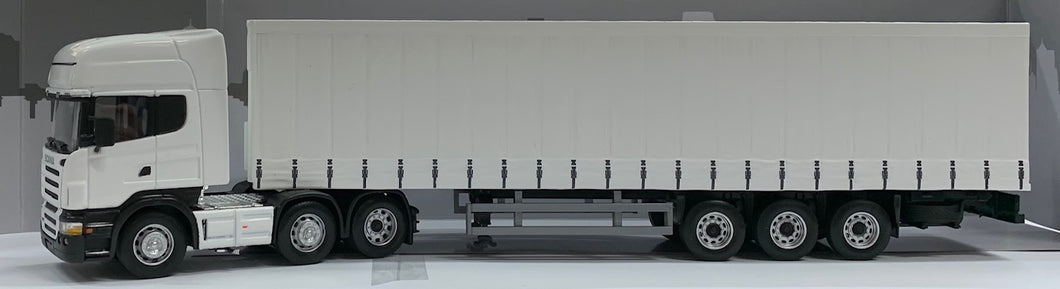 1:50 Scania Prime Mover & Curtain Side Trailer