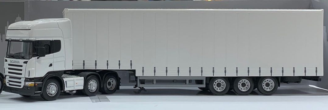 1:50 Scania Prime Mover & Dropdeck Curtain Side Trailer