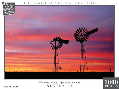 Windmills, Queensland, 1000pc