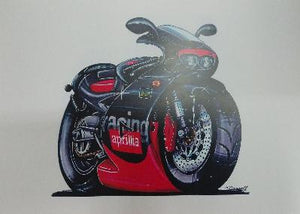 Cartoon Aprilia Racing RS 125 A3 Poster