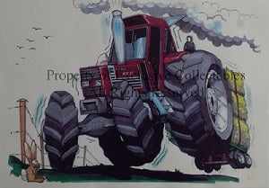 Cartoon Tractor A3 Poster