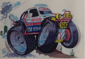 Cartoon Valvoline Monster Truck A3 Poster
