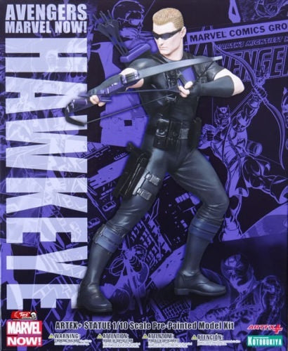 1:10 Kotobukiya Avengers Marvel Now! HAWKEYE Artfx Action Statue Figure