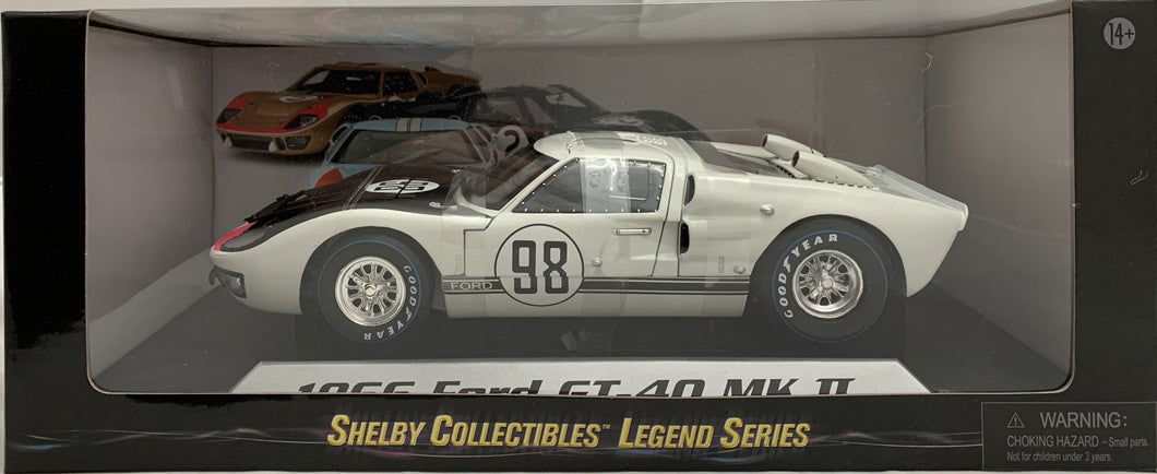 1:18 Ford Shelby 1966 GT40 MK II Gulf White #98
