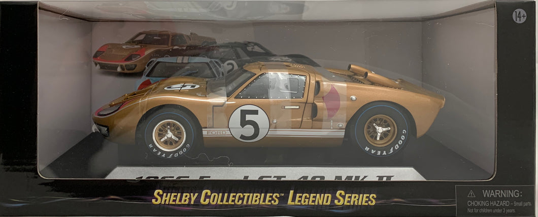1:18 Ford Shelby 1966 GT40 MK II Gold #5