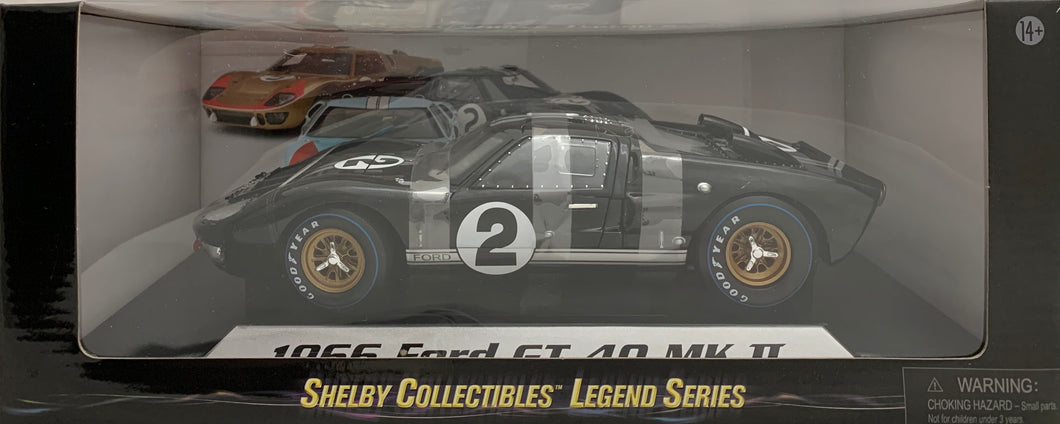 1:18 Ford Shelby 1966 GT40 MK II Black #2
